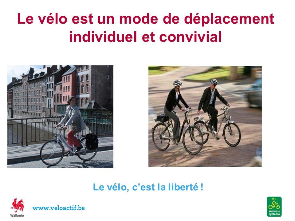 Le vélo est un mode de déplacement individuel et convivial Le vélo, cest la liberté !