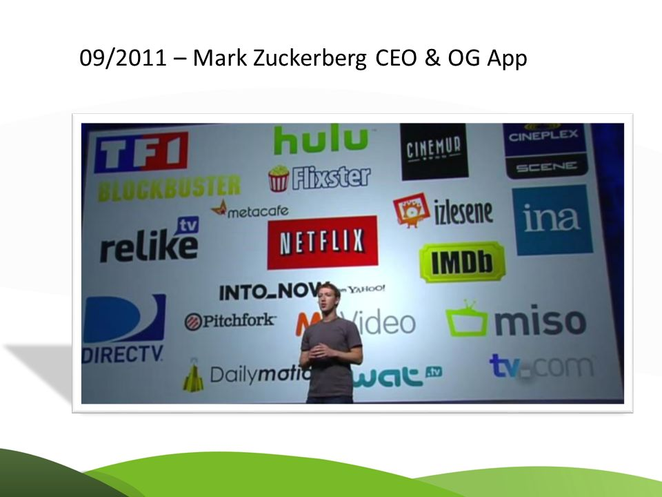 09/2011 – Mark Zuckerberg CEO & OG App