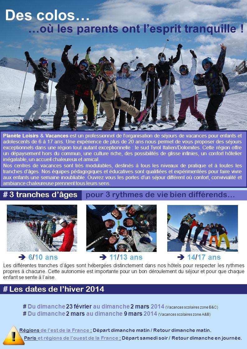Des colos… Planète Loisirs & Vacances est un professionnel de lorganisation de séjours de vacances pour enfants et adolescents de 6 à 17 ans. Une expé
