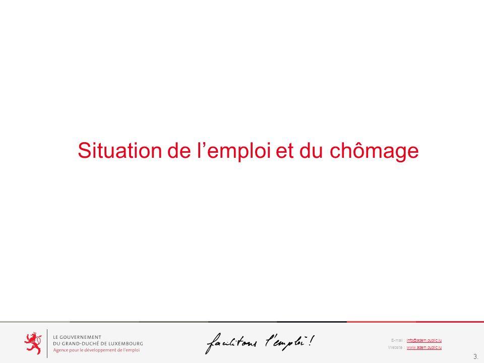 info@adem.public.lu www.adem.public.lu E-mail : Website : 3. Situation de lemploi et du chômage