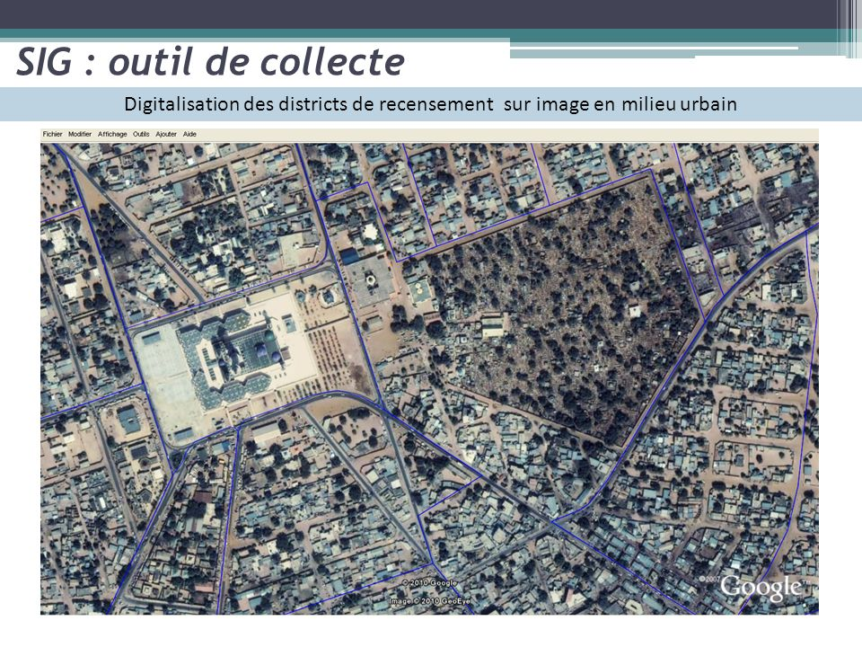 Digitalisation des districts de recensement sur image en milieu urbain SIG : outil de collecte