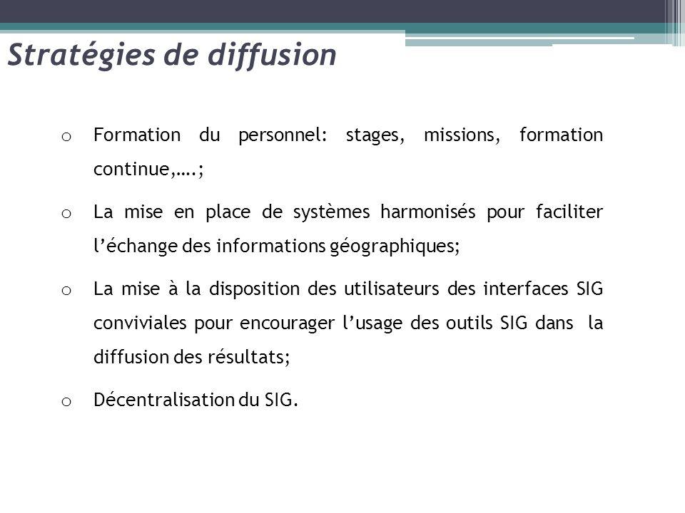 o Formation du personnel: stages, missions, formation continue,….; o La mise en place de systèmes harmonisés pour faciliter léchange des informations