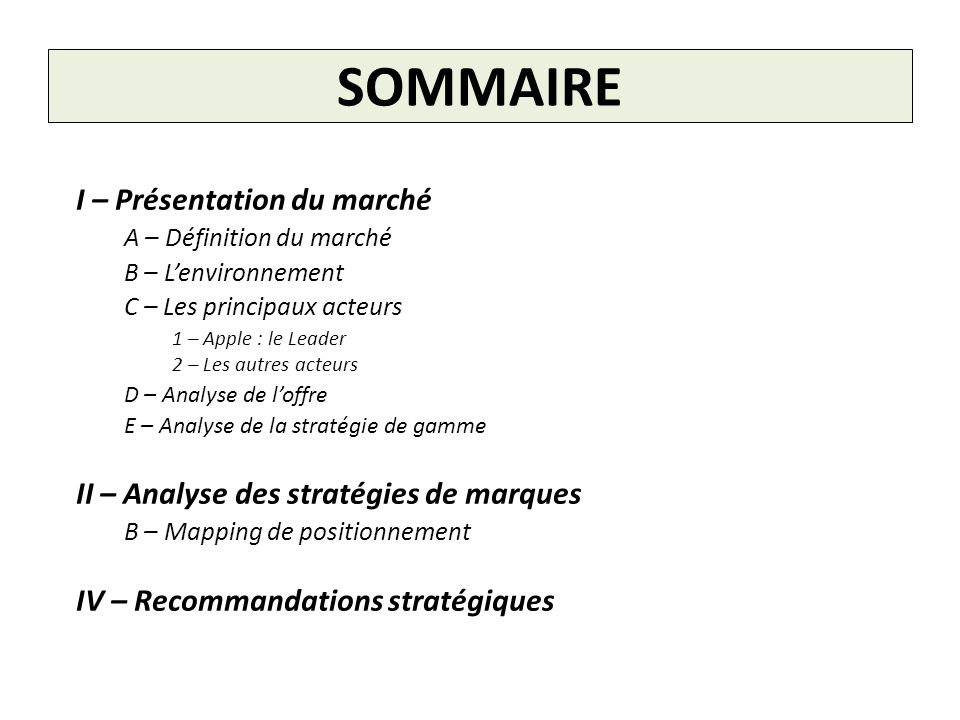 B - Mapping de positionnement Marques : Performance Moyenne - + Prix - + Apple Samsung Microsoft Asus Amazon Marques Blanches