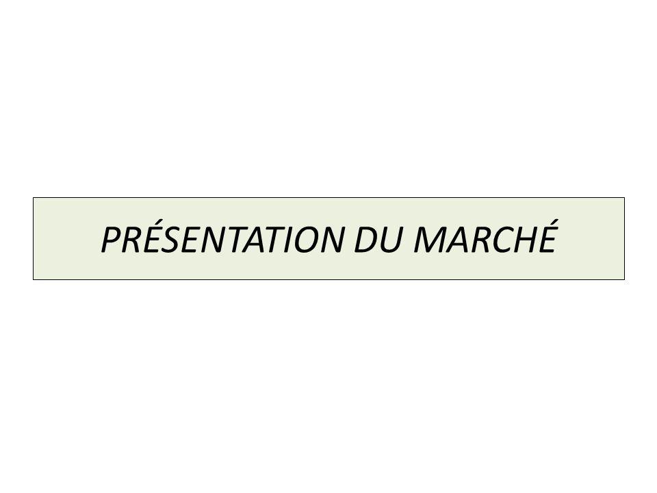 PRÉSENTATION DU MARCHÉ