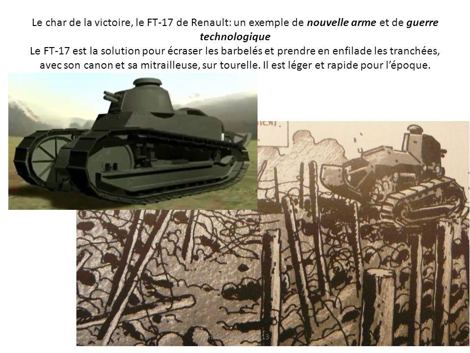 Le char de la victoire, le FT-17 de Renault: un exemple de nouvelle arme et de guerre technologique Le FT-17 est la solution pour écraser les barbelés