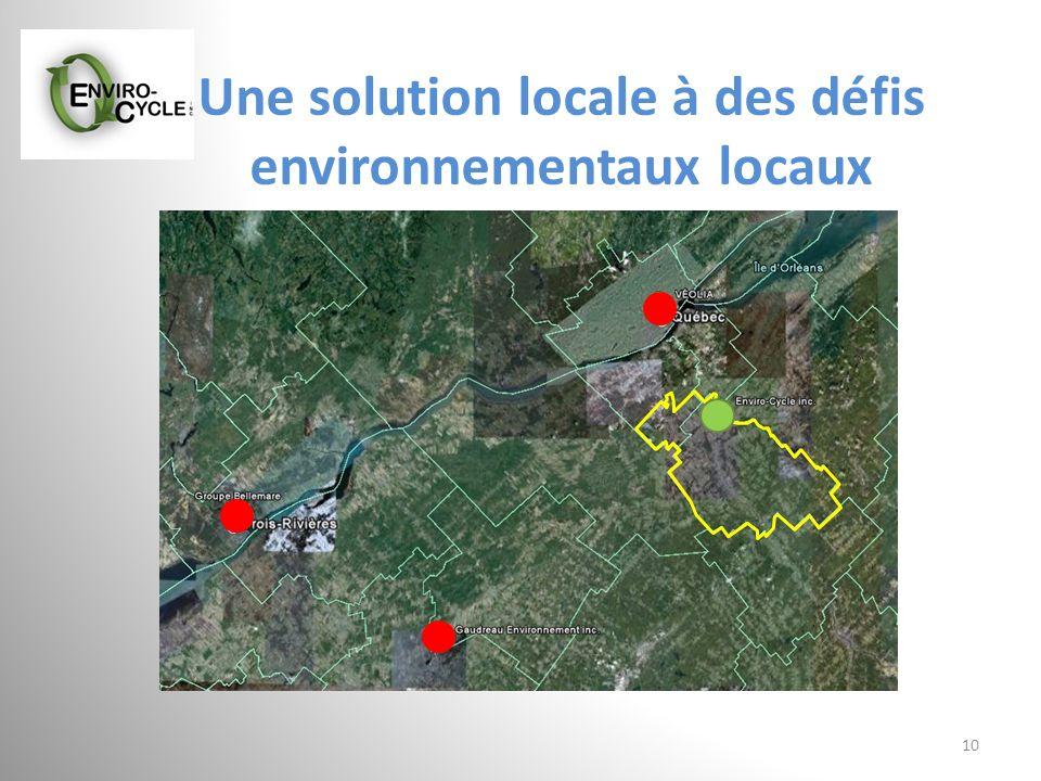 Une solution locale à des défis environnementaux locaux 10