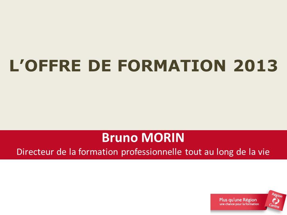 LOFFRE DE FORMATION 2013 Contribuer ensemble à la lutte contre le chômage et à la sécurisation des parcours professionnels