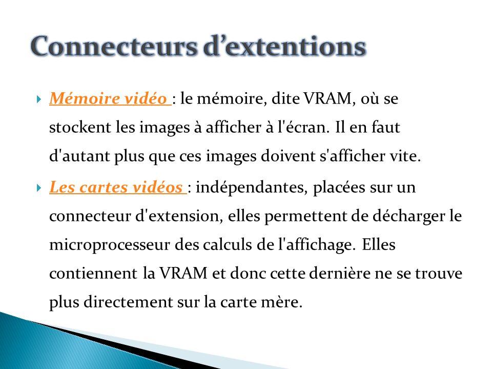 Les connecteurs d extension (anglais : slot) sont des réceptacles pouvant accueillir des cartes dextension.