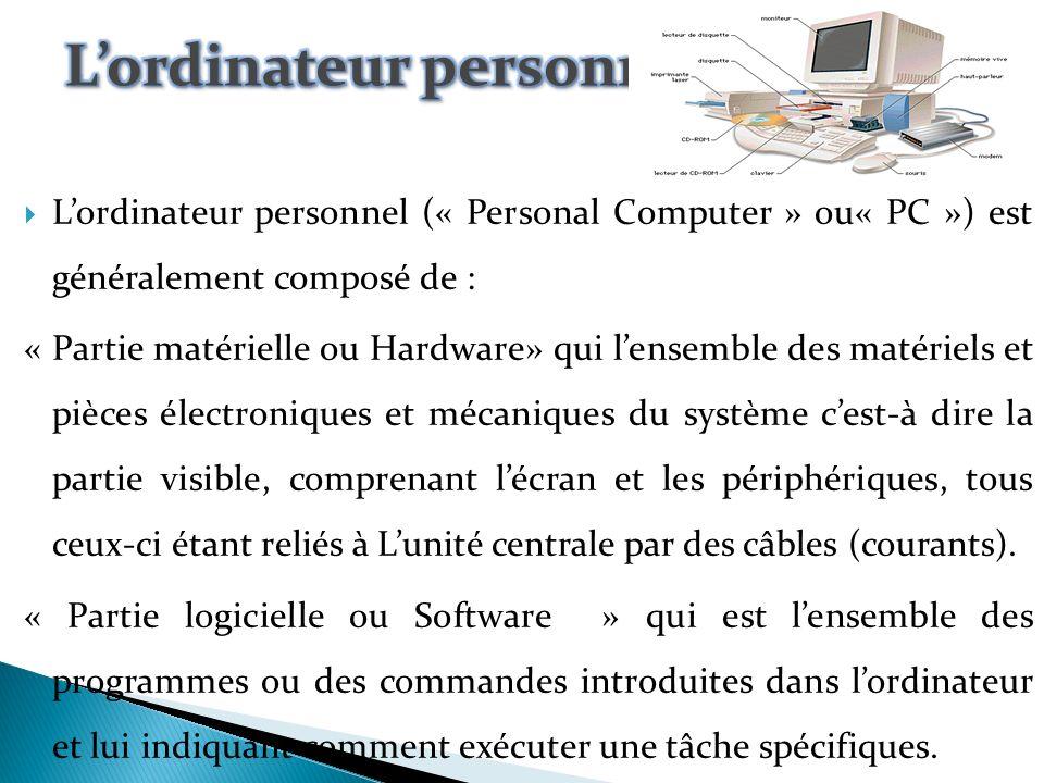 L outil utilisé pour traiter l information de manière automatique s appelle un ordinateur.