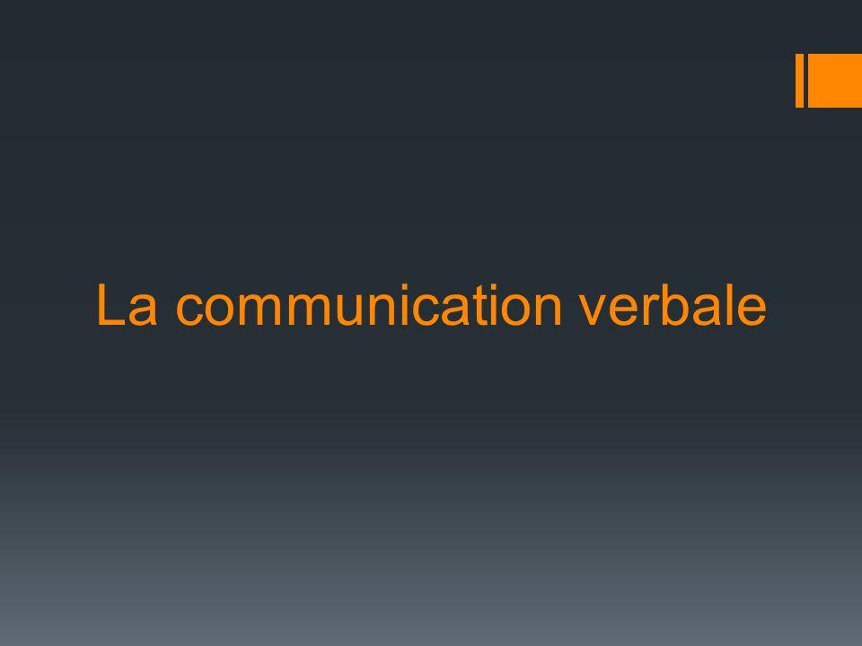 La communication verbale