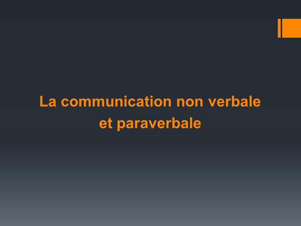 La communication non verbale et paraverbale