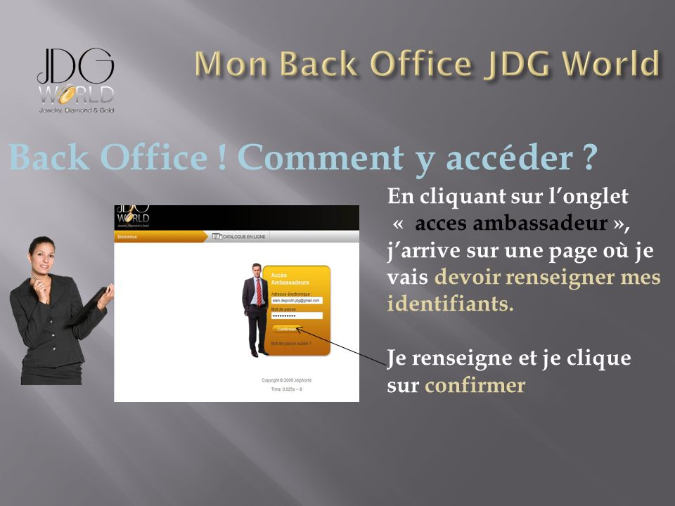 Back Office .Comment y accéder .