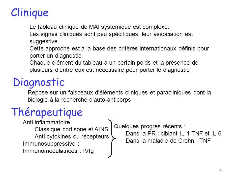 Le tableau clinique de MAI systémique est complexe.