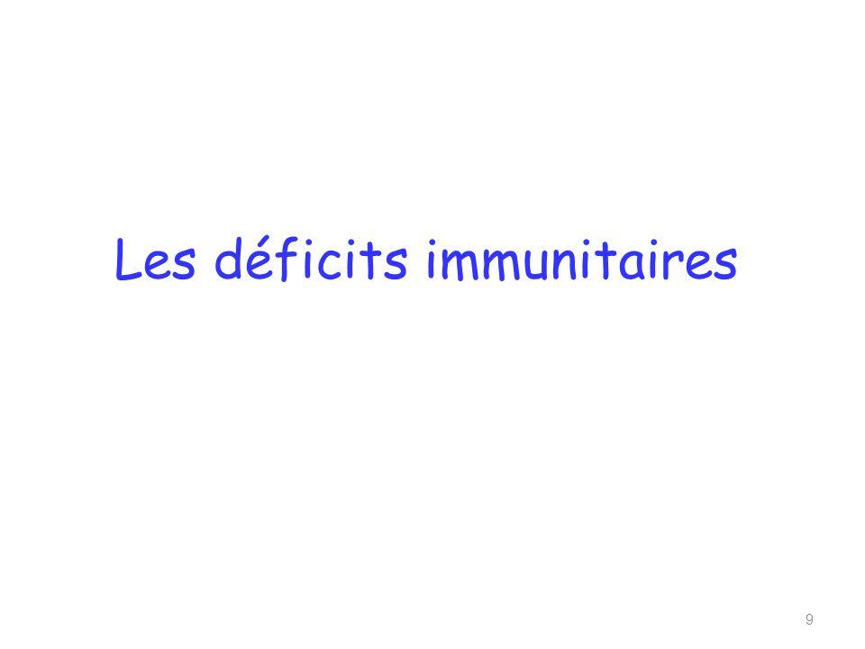 Les déficits immunitaires 9