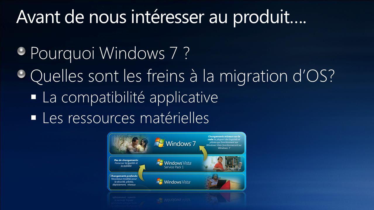 AvantagesFonctionnalités Windows 7 Professionnel Windows Vista Professionnel SP1 Windows XP Professionnel SP3 Travaillez comme vous le voulez Windows XP Mode Centre de maintenance Enregistreur daction utilisateurs Joindre un domaine HomeGroup Faites en plus Localisation des imprimantes Paramètres de présentation Documents hors connexion Protégez votre travail Cryptage des dossiers Sauvegardes avancée Restauration des versions antérieures des documents