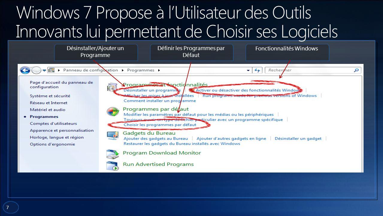 8 Pour se conformer à la volonté de la Commission Européenne, la version de Windows 7 qui sortira dans les pays de lUnion proposera à ses utilisateurs un écran de sélection sur lequel il pourra choisir le navigateur quil souhaite installer et utiliser.