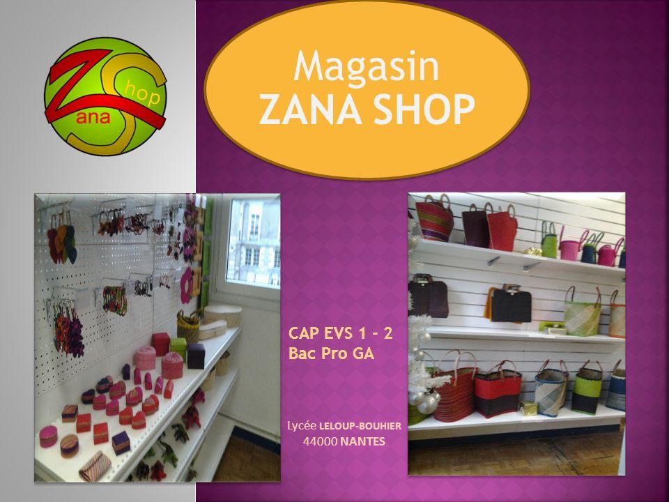 1.Création de Zana Shop 2. Communication interne et externe 3.