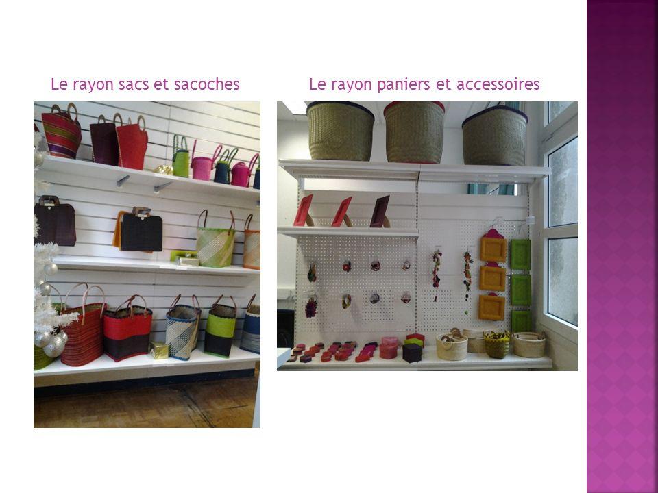 Le rayon sacs et sacochesLe rayon paniers et accessoires