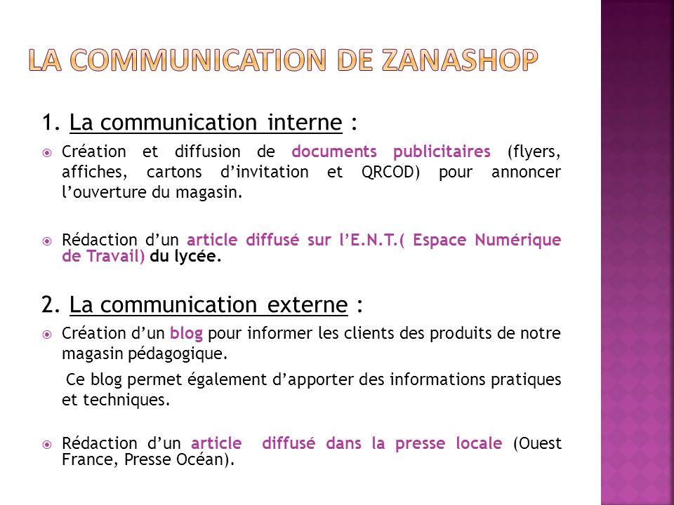 1. La communication interne : Création et diffusion de documents publicitaires (flyers, affiches, cartons dinvitation et QRCOD) pour annoncer louvertu