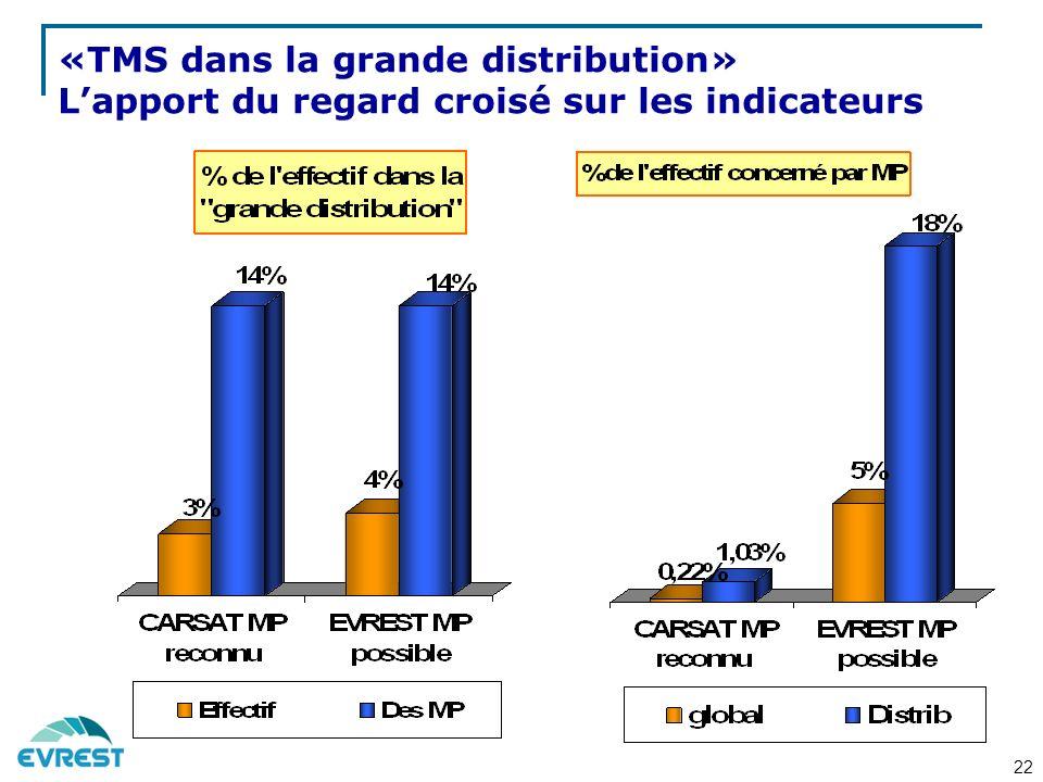 «TMS dans la grande distribution» Lapport du regard croisé sur les indicateurs 22