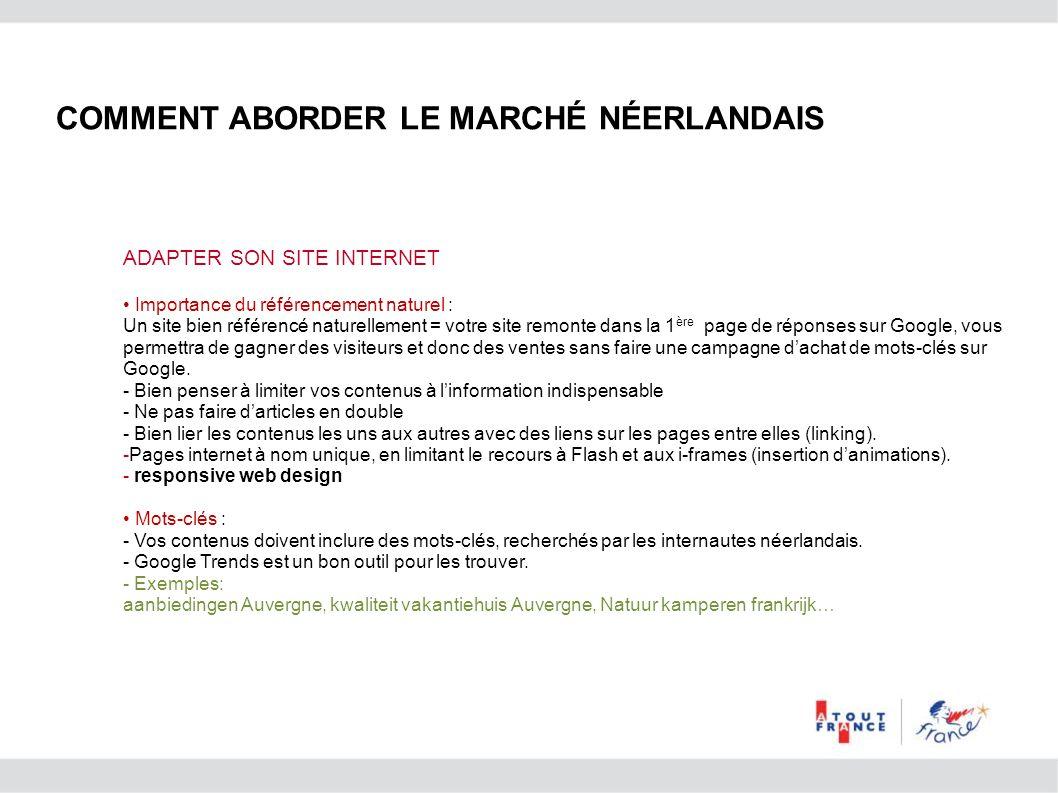 ADAPTER SON SITE INTERNET Importance du référencement naturel : Un site bien référencé naturellement = votre site remonte dans la 1 ère page de répons