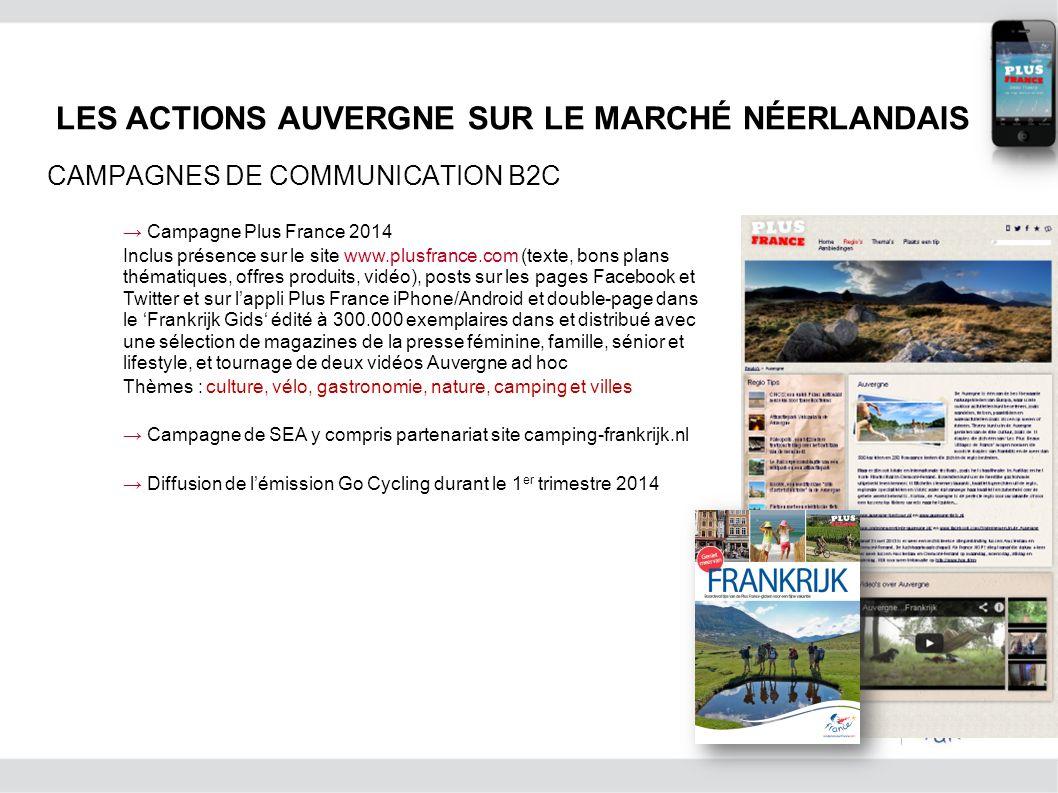 Campagne Plus France 2014 Inclus présence sur le site www.plusfrance.com (texte, bons plans thématiques, offres produits, vidéo), posts sur les pages