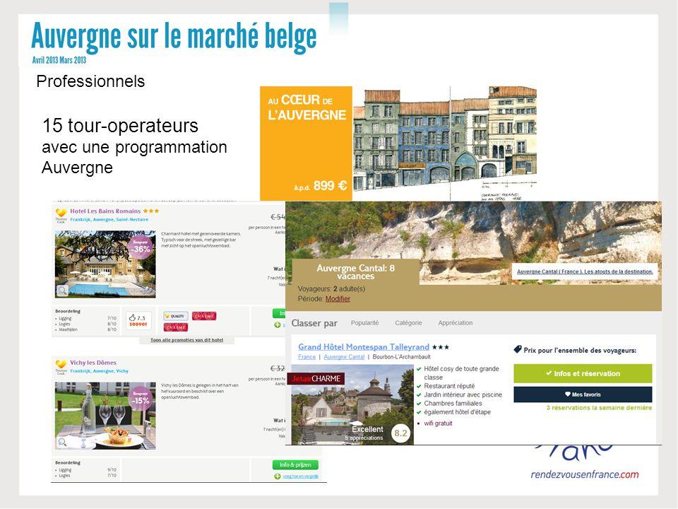 15 tour-operateurs avec une programmation Auvergne Professionnels