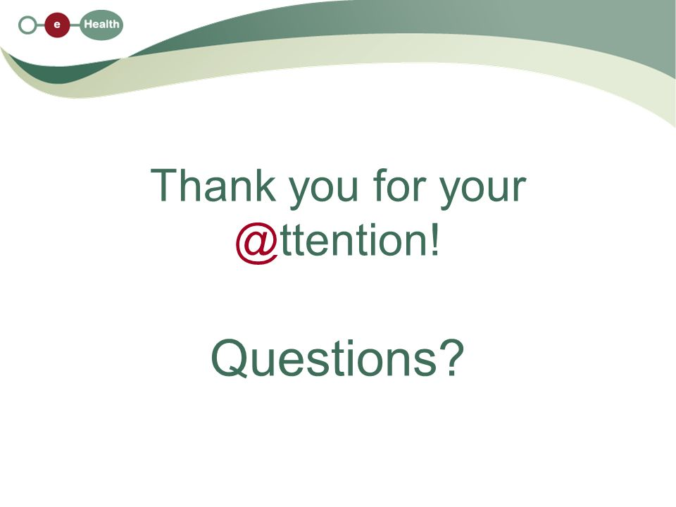 Thank you for your @ttention! Questions
