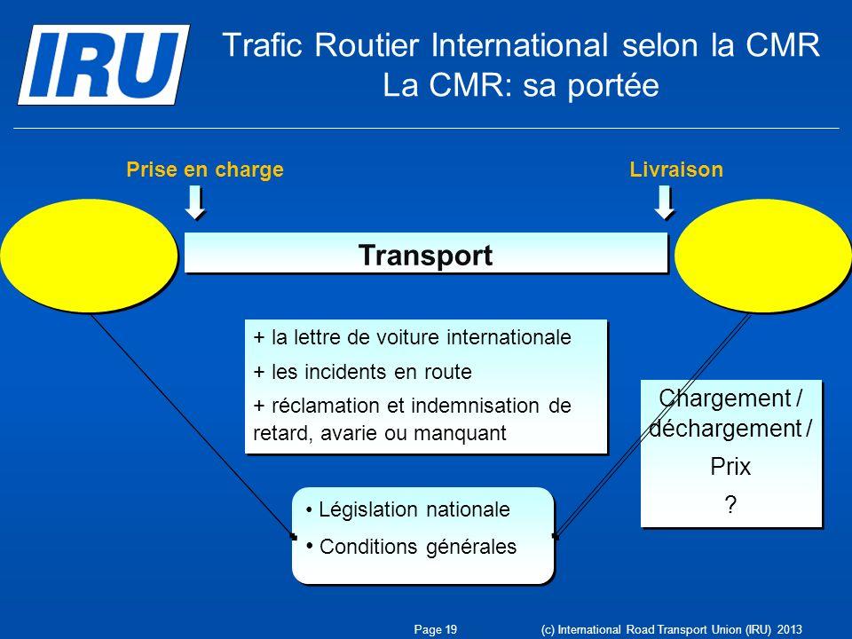 + la lettre de voiture internationale + les incidents en route + réclamation et indemnisation de retard, avarie ou manquant + la lettre de voiture int