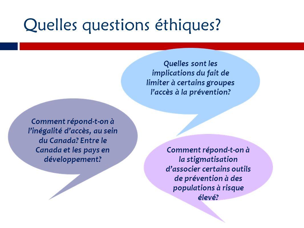 Quelles questions éthiques.