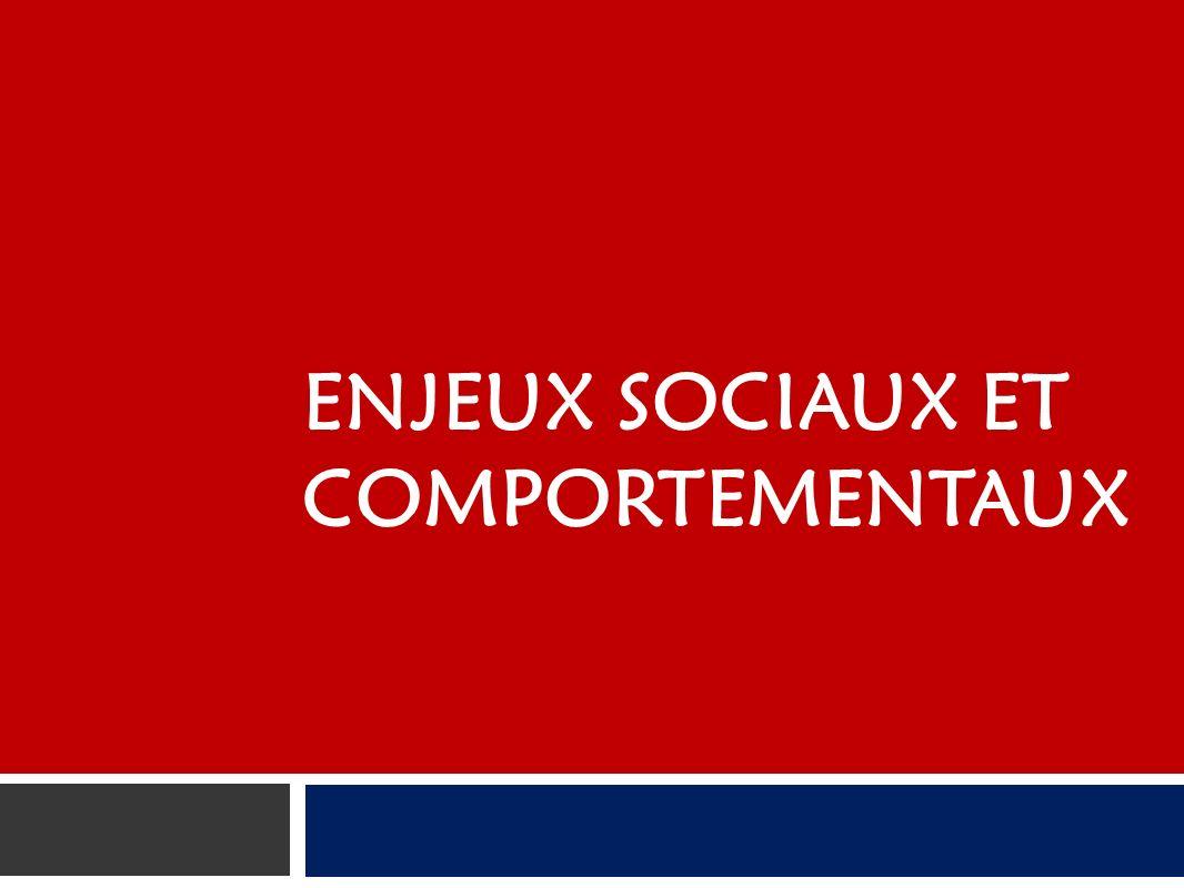 ENJEUX SOCIAUX ET COMPORTEMENTAUX