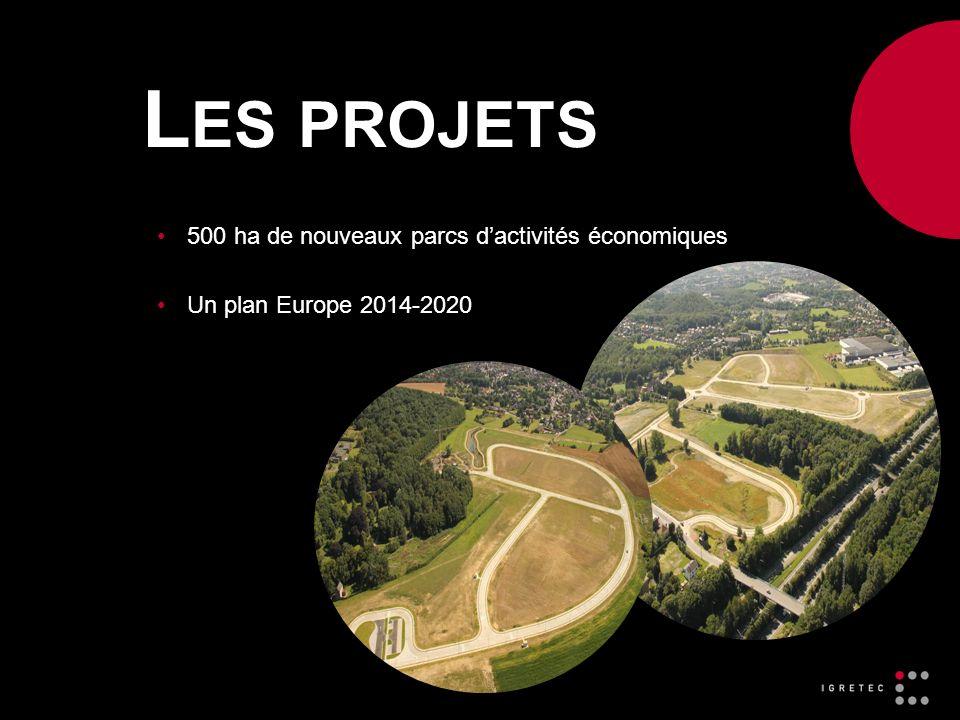 L ES PROJETS 500 ha de nouveaux parcs dactivités économiques Un plan Europe 2014-2020