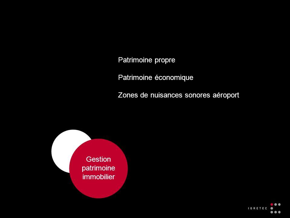 Gestion patrimoine immobilier Patrimoine propre Patrimoine économique Zones de nuisances sonores aéroport