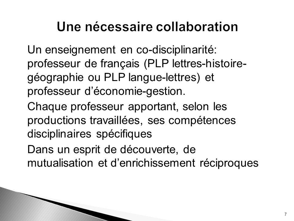 Pour faire évoluer les représentations des élèves dans lapprentissage dun métier : liaison EG /EP.