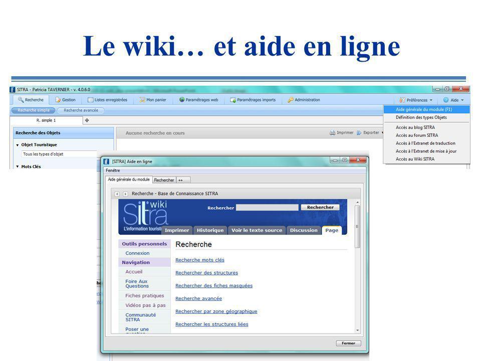 Le wiki… et aide en ligne