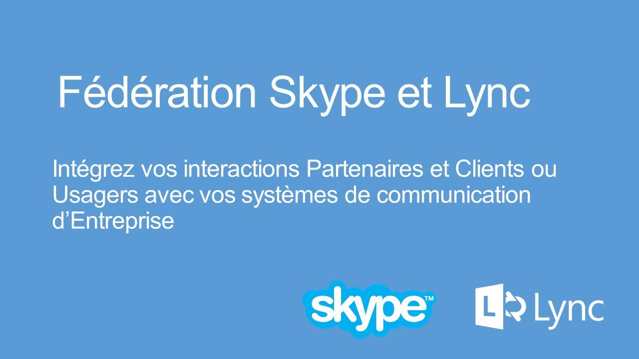 Lync Server Control Panel: Enable Provider 1.Dans le menu SIP Federated Providers Choisir Messenger (Remplacé par Skype lors de la prochaine mise à jour de la console) 2.Sélectionner Enable communications with this provider Important: Assurez vous que le loption Default verification level correspond à votre besoin.