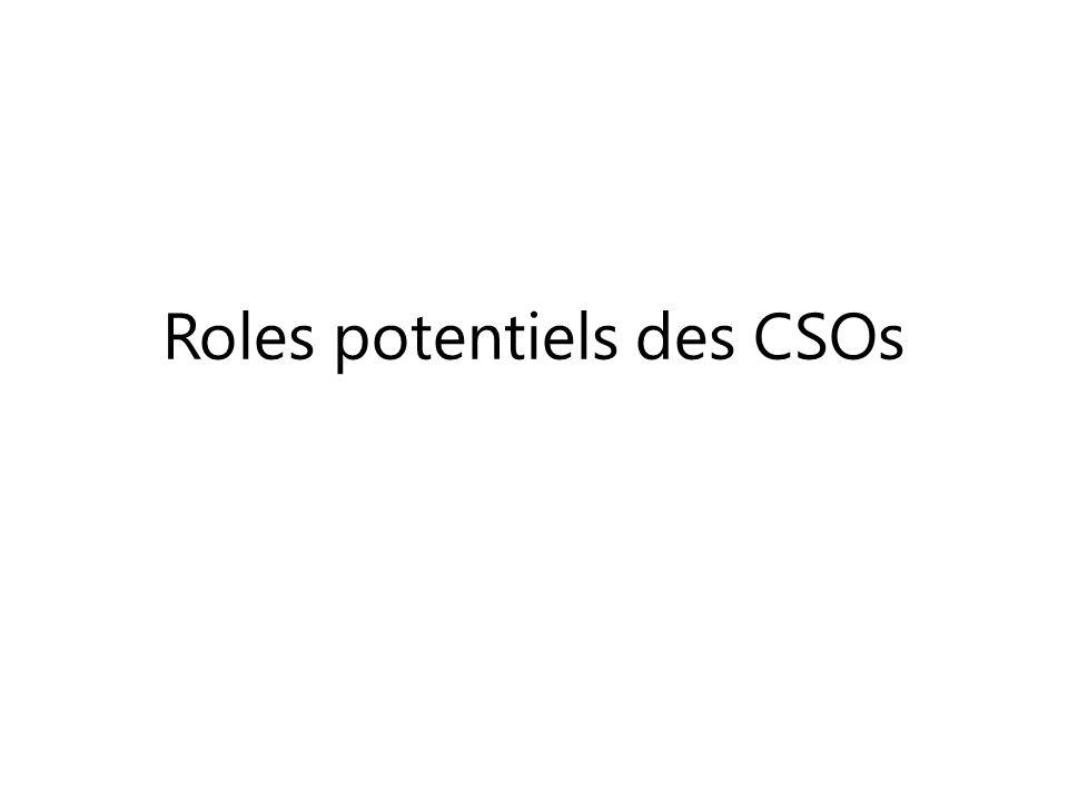 Roles potentiels des CSOs