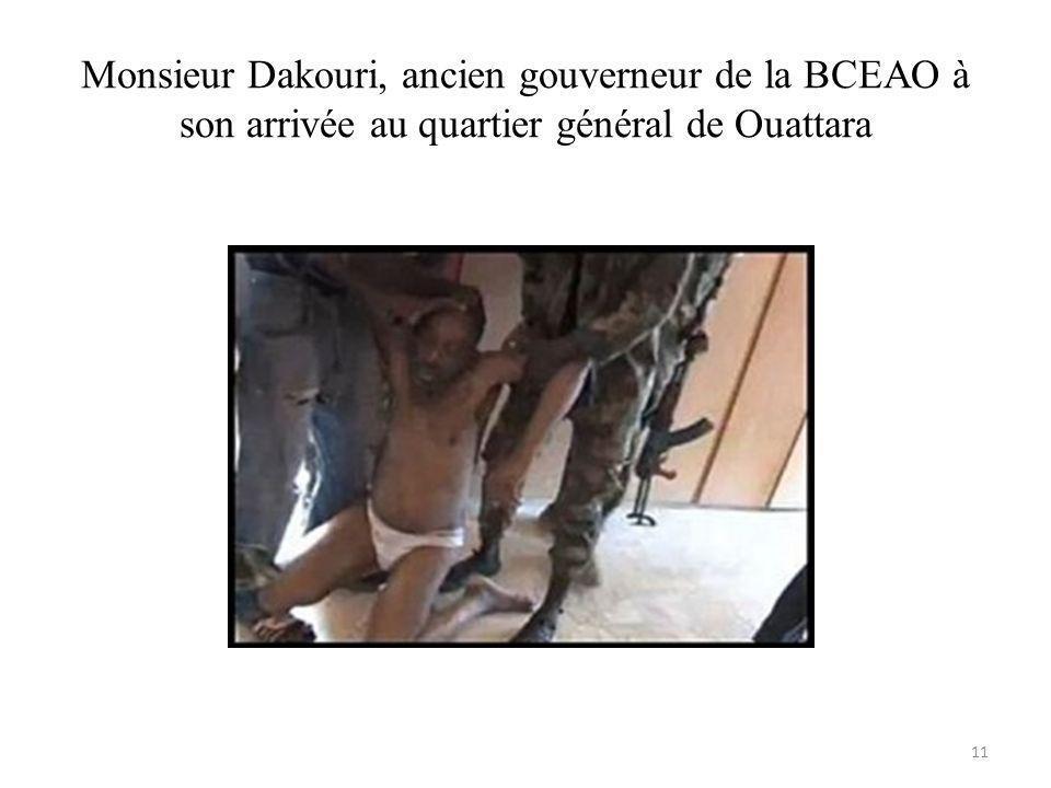 Monsieur Dakouri, ancien gouverneur de la BCEAO à son arrivée au quartier général de Ouattara 11