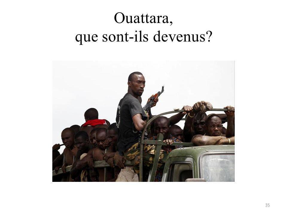 Ouattara, que sont-ils devenus 35
