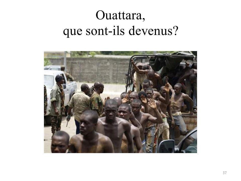 Ouattara, que sont-ils devenus 37