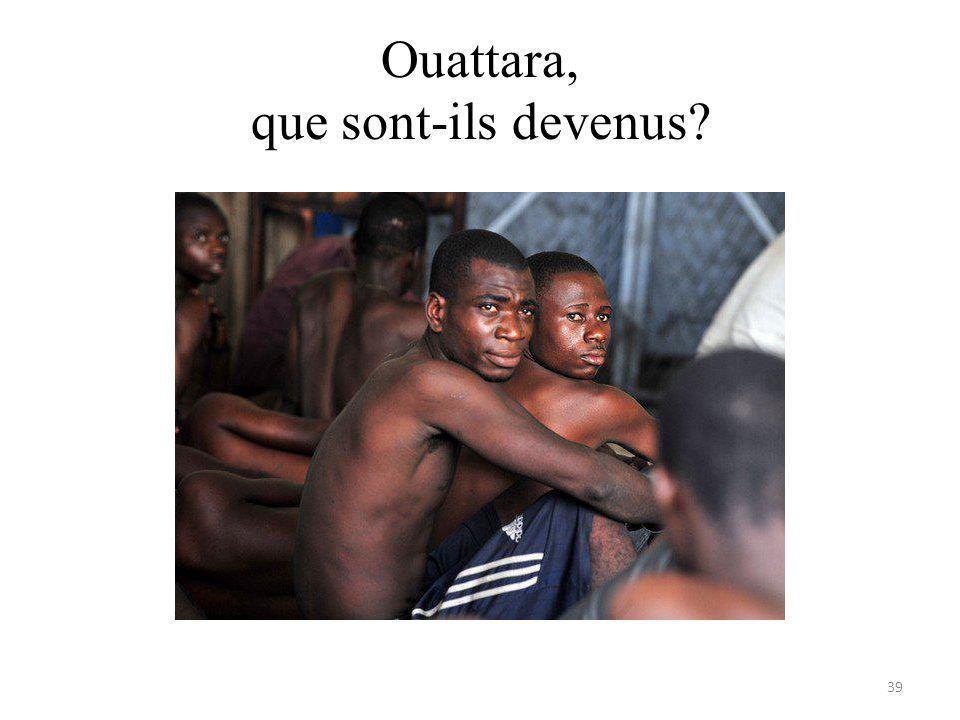 Ouattara, que sont-ils devenus 39