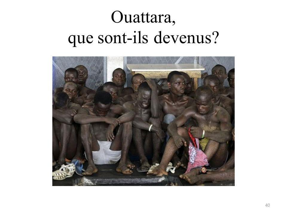 Ouattara, que sont-ils devenus? 40