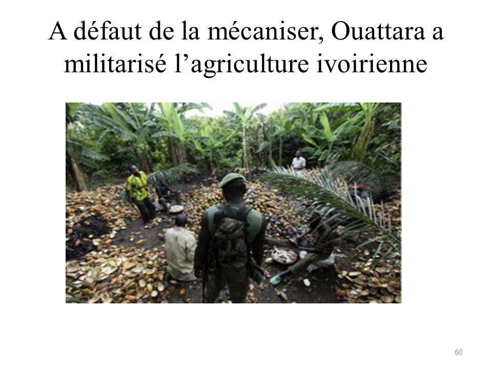 A défaut de la mécaniser, Ouattara a militarisé lagriculture ivoirienne 60