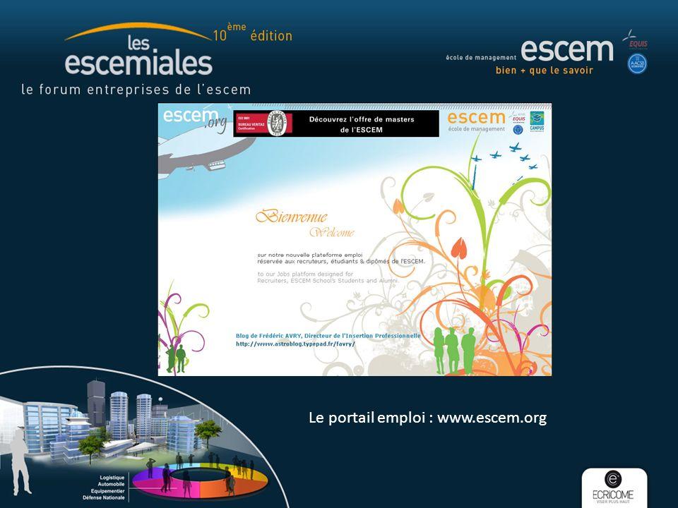 Le portail emploi : www.escem.org