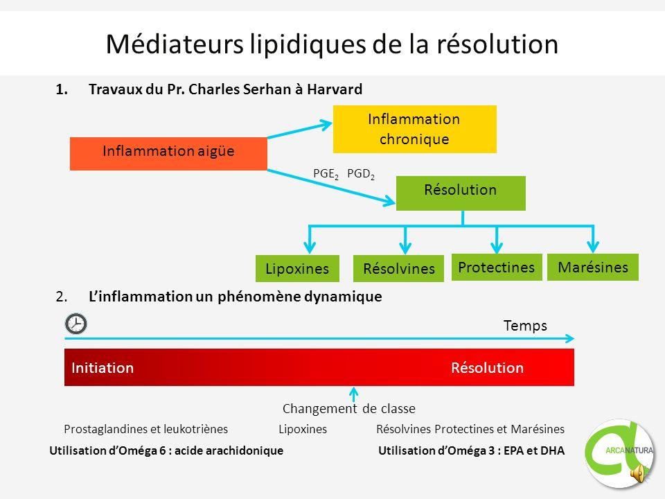 Médiateurs lipidiques de la résolution 1.Travaux du Pr.