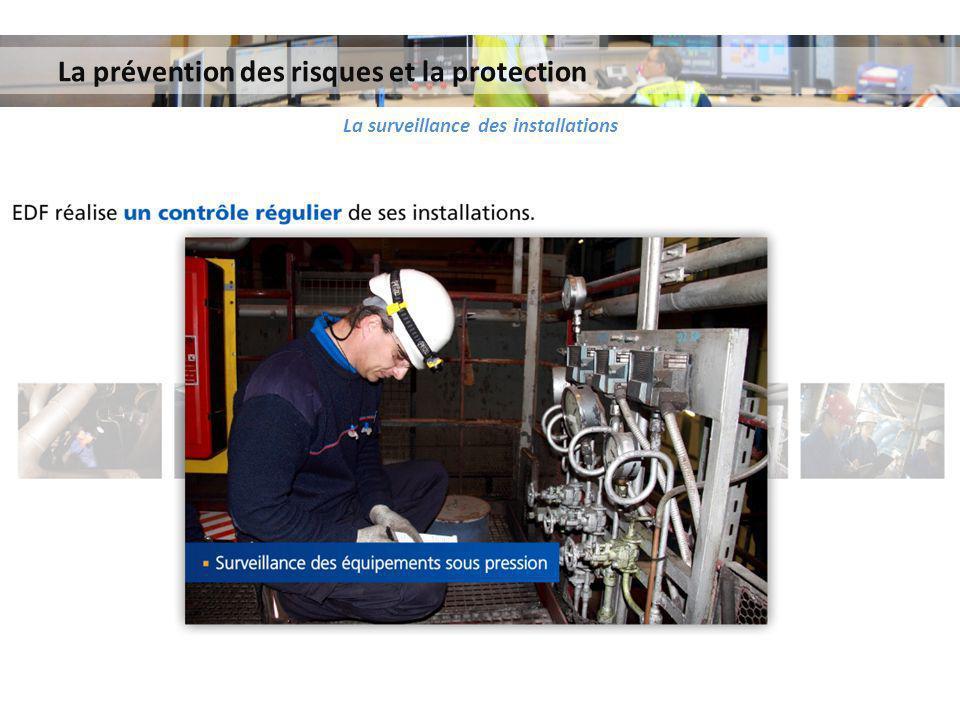 La prévention des risques et la protection La surveillance des installations