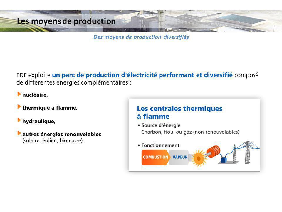 Les moyens de production Des moyens de production diversifiés