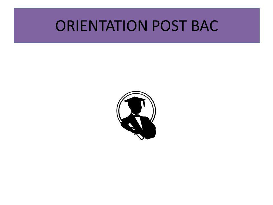 ORIENTATION POST BAC