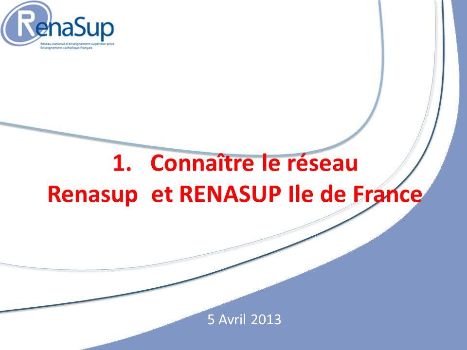 1.Connaître le réseau Renasup et RENASUP Ile de France 5 Avril 2013