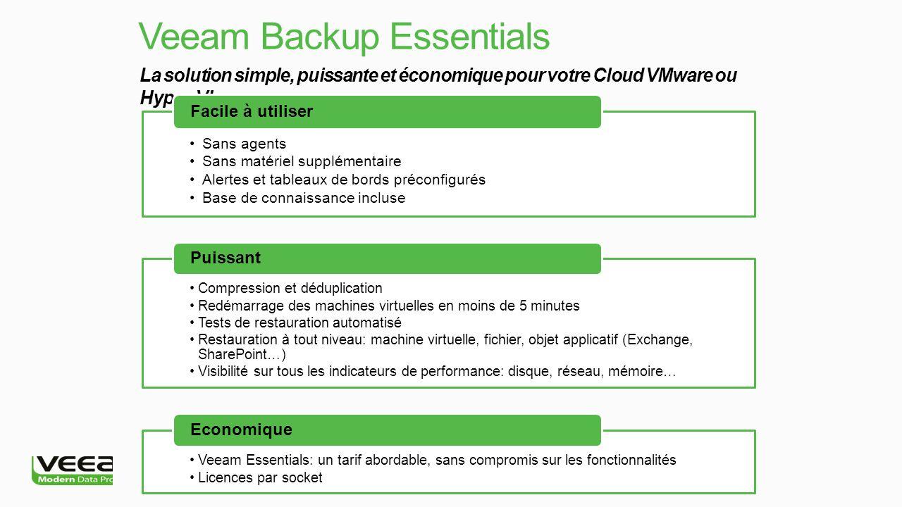 La solution simple, puissante et économique pour votre Cloud VMware ou Hyper-V.